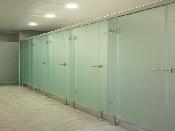Cabinas sanitarias de vidrio