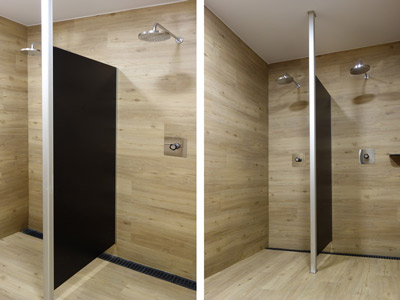 Mampara de fenólico para ducha
