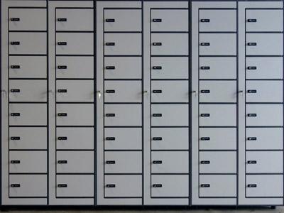 Taquillas con ocho casilleros por columna