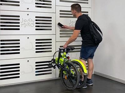 Taquillas inteligentes de para bicicletas y patines