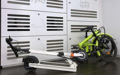 Taquillas inteligentes para bicicletas y patinetes